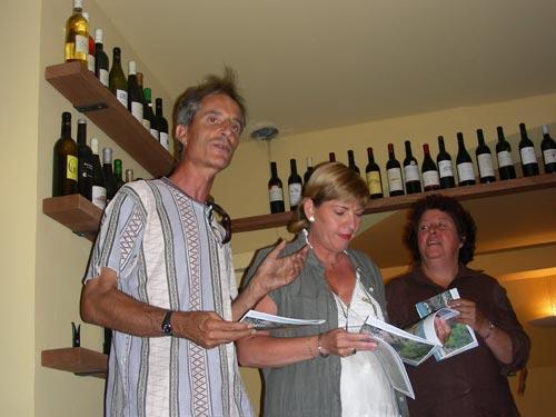 La soirée de lancement de l'ouvrage Esprit du Salagou le 16 juillet 2007