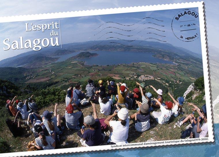 """La couverture de la brochure """"L'Esprit du Salagou"""""""